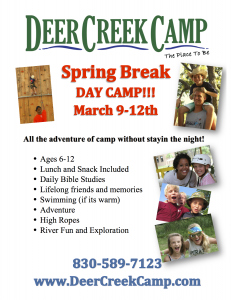 Spring Break Day Camp '15 Poster