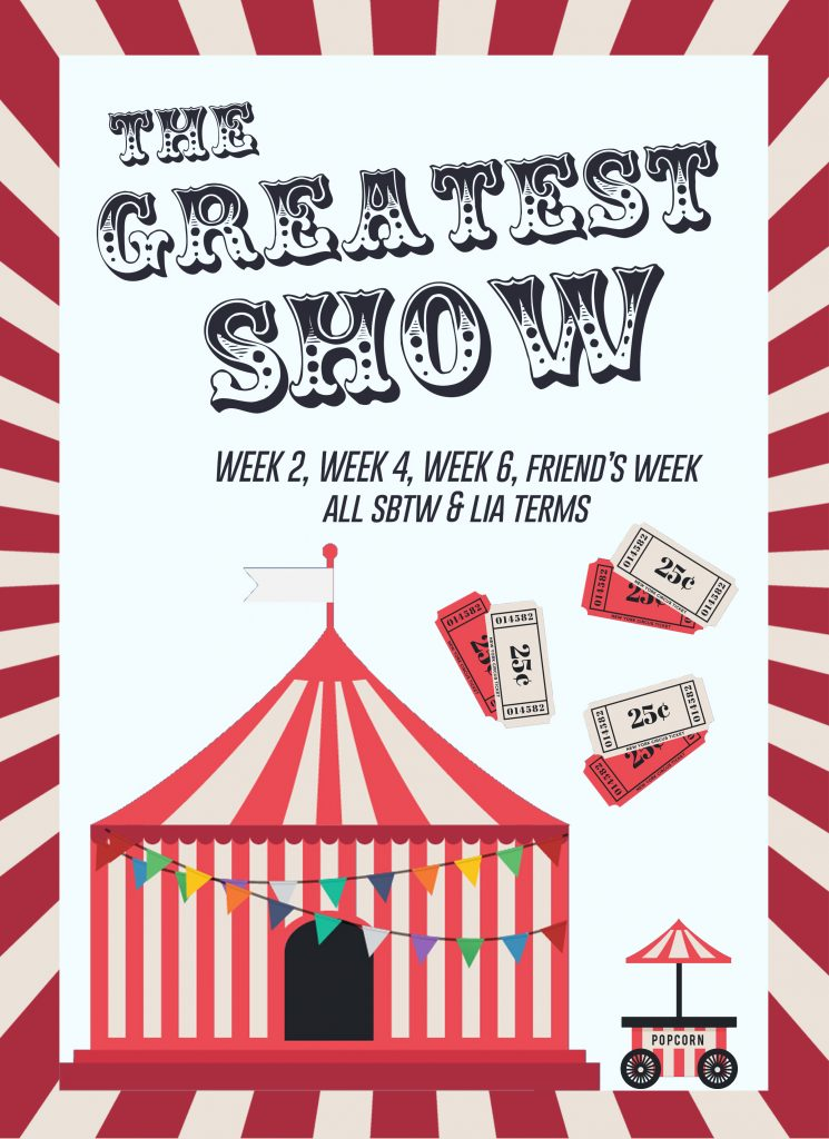 Greatest Show Theme Night Flyer