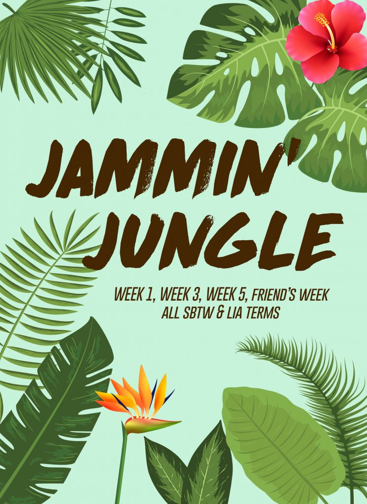 Jammin Jungle Theme Night Flyer
